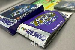 The Legend Of Zelda Oracle Of Ages (bleu) Nintendo Gbc Game Boy Color Complete