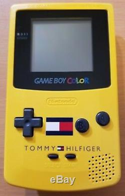 Tommy Hilfiger X Nintendo Game Boy Color Avec Dr. Mario Cgb-001 À Led Jaune Tested