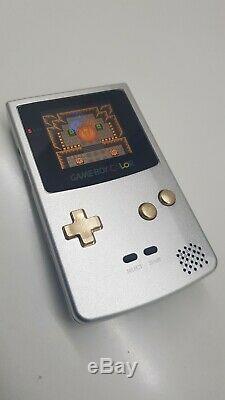 Ultime Aluminium Game Boy Color LCD Gbc Ips Rétro-éclairage Rechargeable
