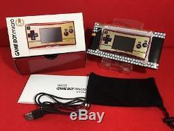 Utilisé Nintendo Gameboy Micro Famicom Couleur Console 20ème Anniversaire Avec Boîte En S