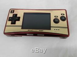 V3185 Nintendo Gameboy Micro Console Adaptateur Famicom Poche Couleur Japan Withbox