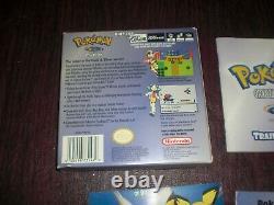 Version Complète Cristal Pokemon Nintendo Game Boy Color Advance Avec Nouvelle Batterie