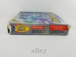Version Cristal Pokemon (game Boy Color, 2001) Boîte Authentique Manuel Complet