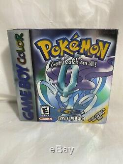 Version Cristal Pokemon (game Boy Color) Nintendo Cib Authentique Les Inserts Complets
