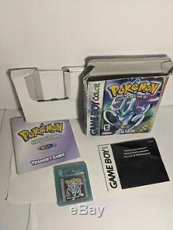 Version Cristal Pokemon (nintendo Game Boy Color) Complète Dans L'encadré Authentique Gbc