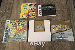 Version Pokémon Gold (game Boy Color) Cib Avec Du Papier Shrink Complete In Box