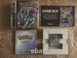 Vintage Nintendo Gameboy Couleur Crystal Version Boxed And Complete