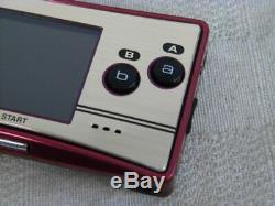 X1816 Nintendo Gameboy Micro Console Famicom Couleur Japon Avec Pochette