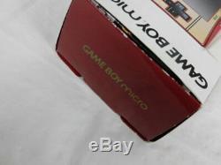Y3037 Nintendo Gameboy Micro Console Adaptateur Famicom Couleur Japan Withbox Mario