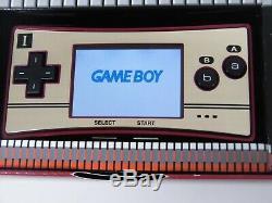 Z4377 Nintendo Gameboy Micro Console Famicom Couleur Japon Adaptateur Withbox