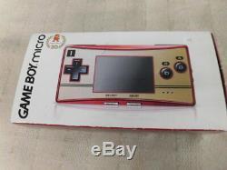Z5039 Nintendo Gameboy Micro Console Famicom Couleur Japon Avec Adaptateur Pour Pochette De Boîte X