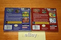 Zelda Oracle Of Ages & Seasons (gameboy Color) Nouvelles Premières Imprimés Scellés À La Menthe