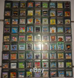 (x81) Lot De Jeux De Couleurs Pour Nintendo Gameboy: Beaucoup De Rares Cartouches De Jeu Vintage